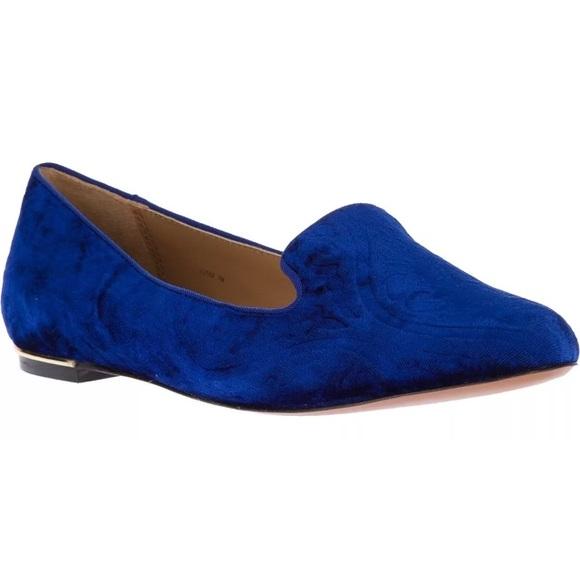 9a34016941f Rachel Zoe Zahara Blue Velvet Loafers 6.5. M 5ba2a6f0aa571913e81e75b1